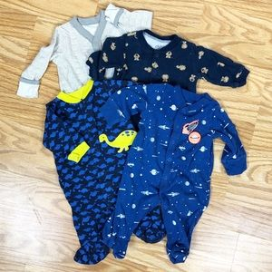 0-3 month Footie pajamas.